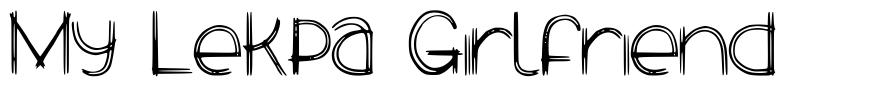My Lekpa Girlfriend font