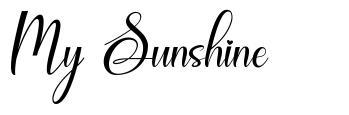 My Sunshine písmo