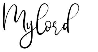 Mylord font