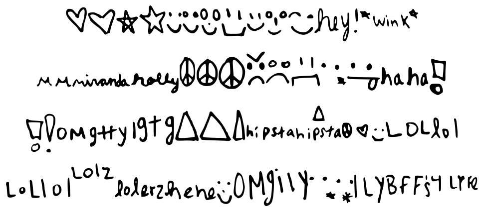 MyRanda Symbols font