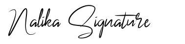 Nalika Signature font