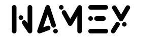 Namex font