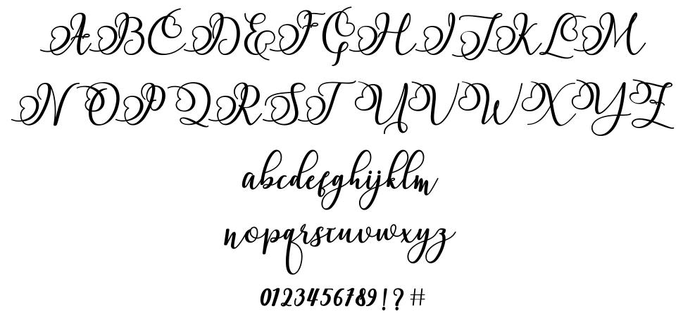 Namilla font