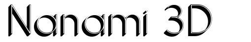 Nanami 3D font