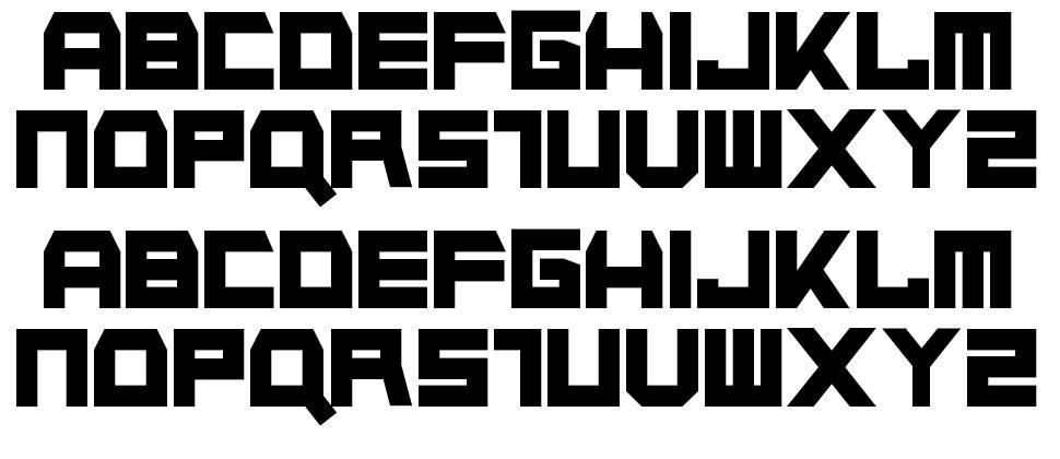Napalm Strike font