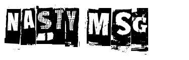 Nasty MSG font