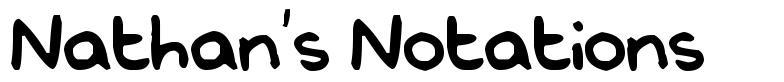 Nathan's Notations font