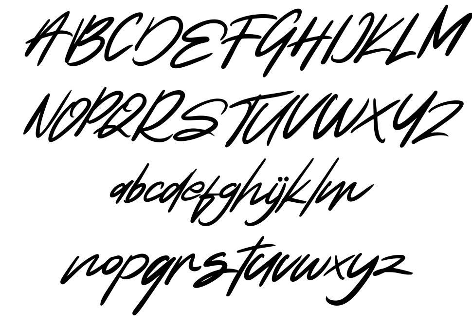 Natide Hegibe font