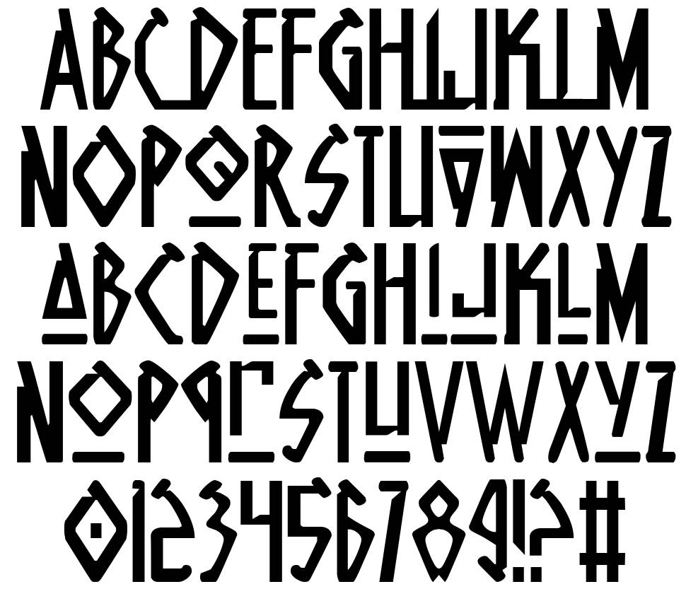 Native Alien font