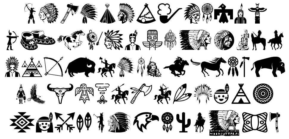 Native American Indians font