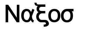 Naxos 字形