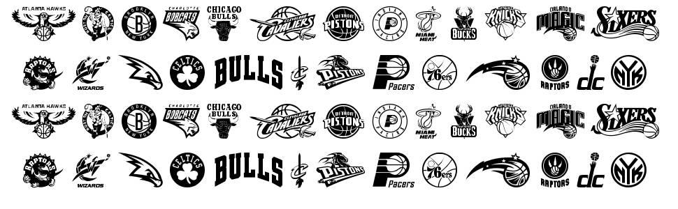 NBA East font
