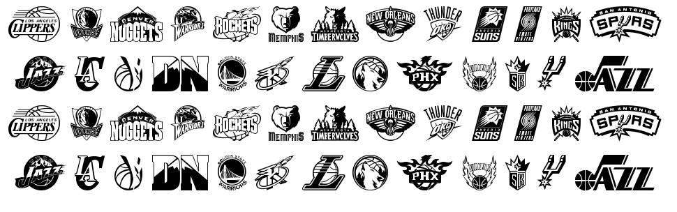 NBA West schriftart
