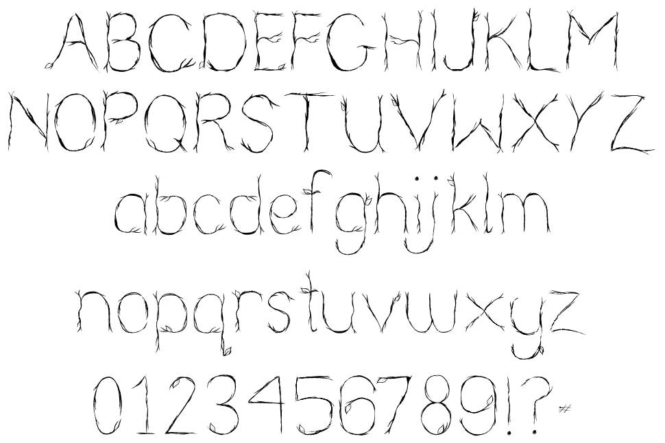 Nearly Nude font