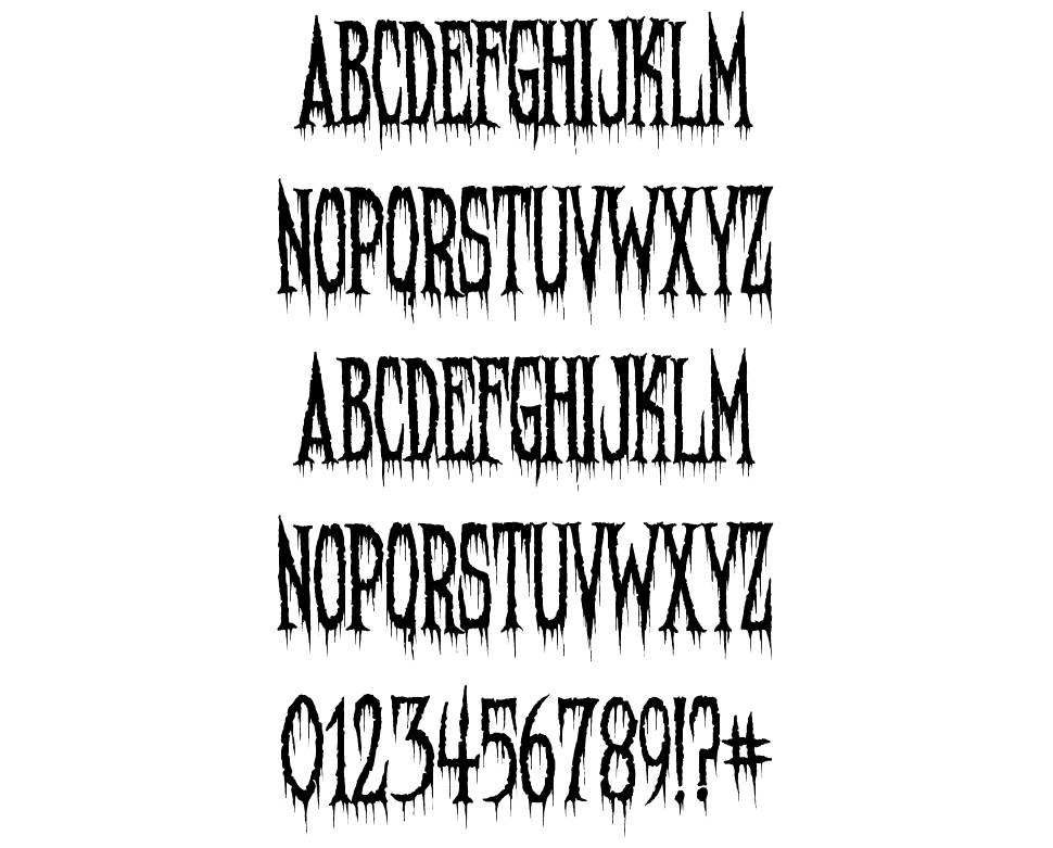 Needleteeth font