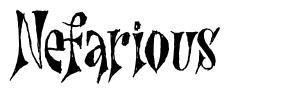 Nefarious шрифт
