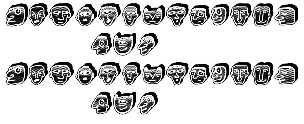 Negative Heads písmo