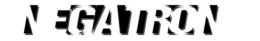 Negatron шрифт