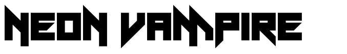 Neon Vampire font
