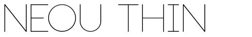 Neou Thin font