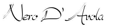 Nero D'Avola font