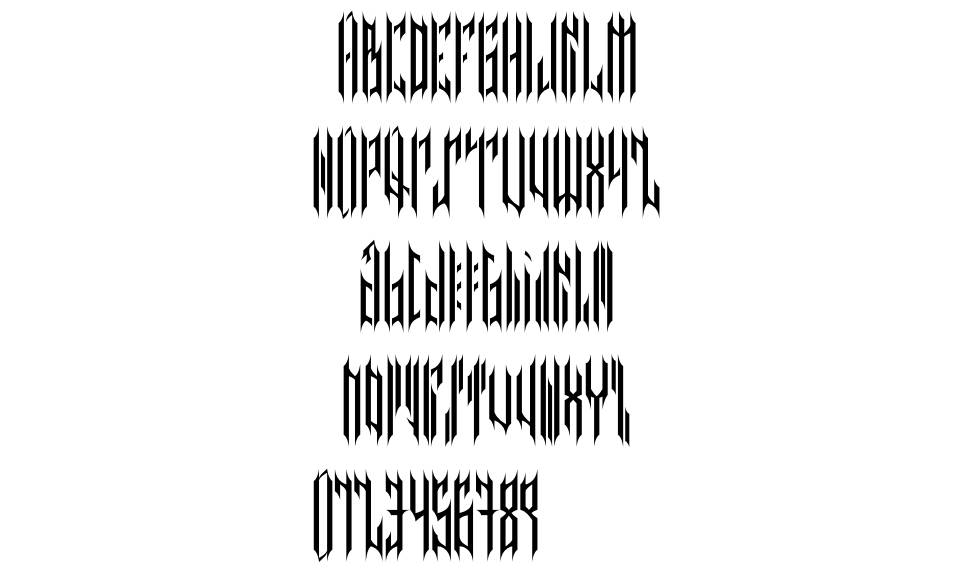 Nether Type font
