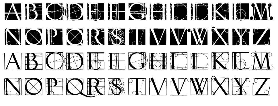 Neudoerffer Scribble Quality font