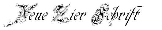 Neue Zier Schrift font