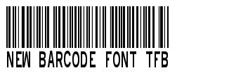 New Barcode Font TFB font