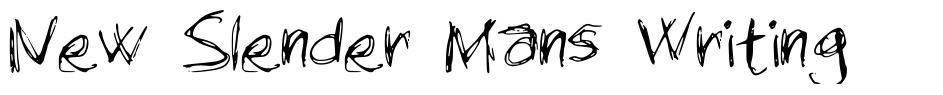 New Slender Mans Writing
