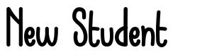 New Student шрифт