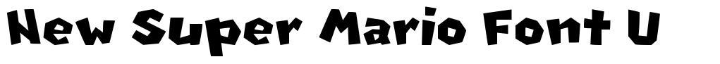 New Super Mario Font U 字形