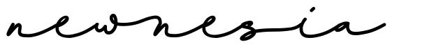 Newnesia font