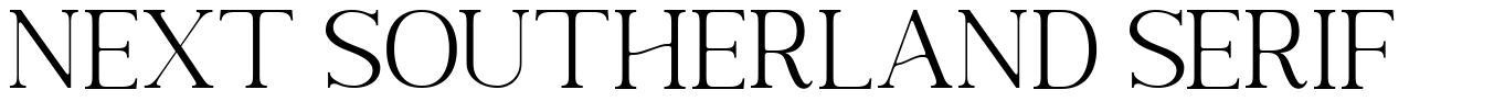 Next Southerland Serif