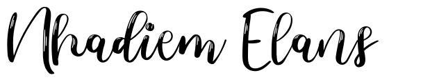 Nhadiem Elans písmo