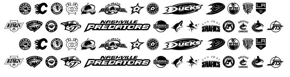 NHL West font