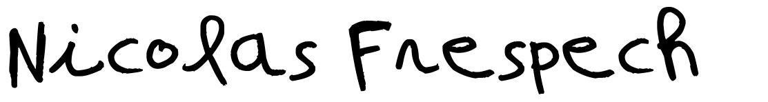 Nicolas Frespech font