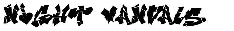 Night Vandals font