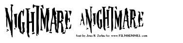Nightmare 5 字形