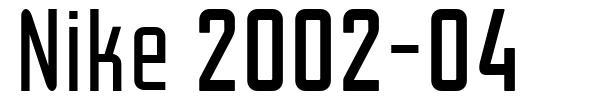 Nike 2002-04 font