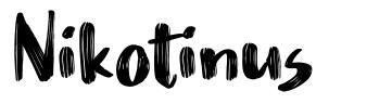 Nikotinus font