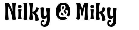 Nilky & Miky шрифт