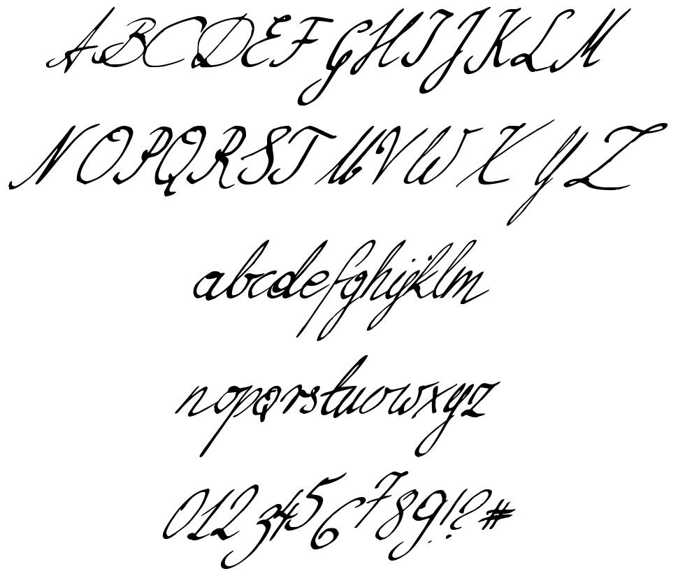 Nillie's Love Letters font