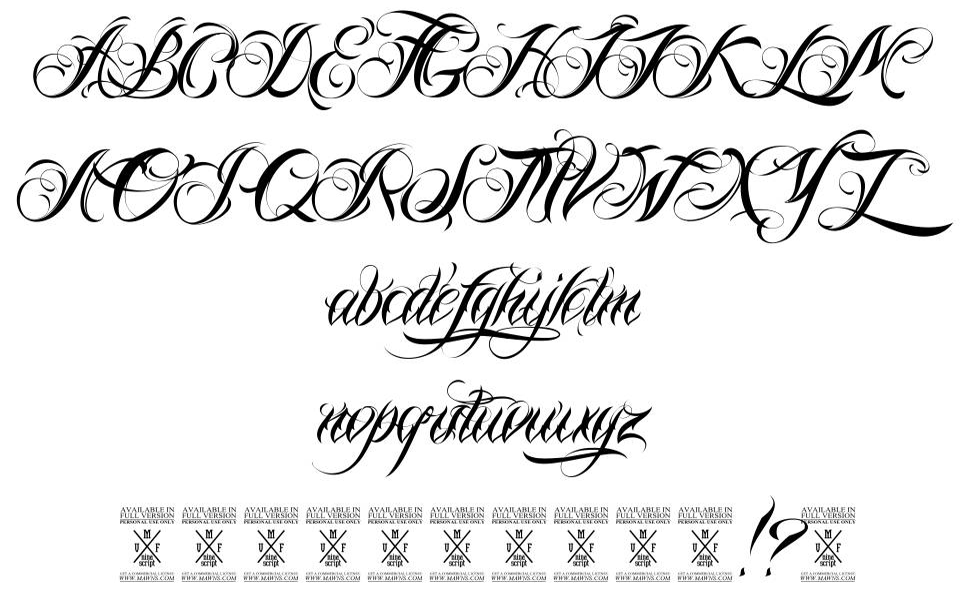 Nina Script 字形