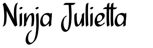 Ninja Julietta шрифт