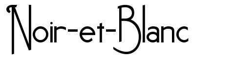 Noir-et-Blanc