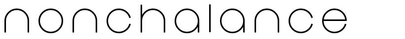 Nonchalance font