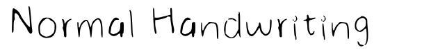 Normal Handwriting