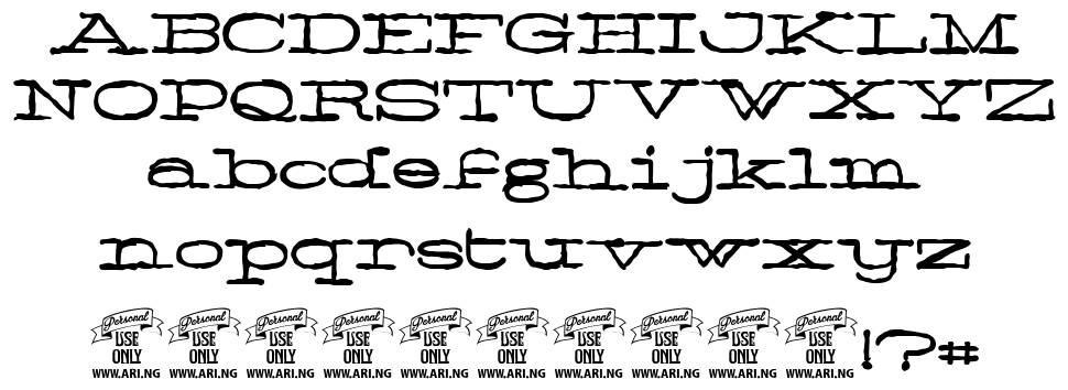 Normale font