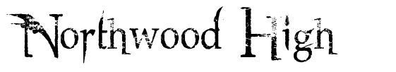 Northwood High フォント